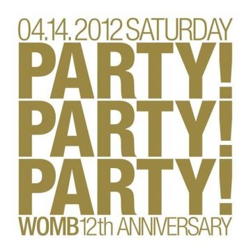 WOMB 12th ANNIVERSARY