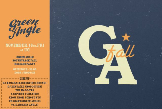 """GREEN ANGLE"" SOUNDTRACK FALL RELEASE PARTY"
