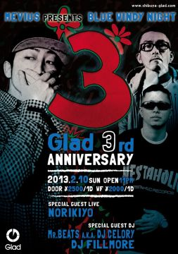 MEVIUS presents BLUE WINDY NIGHT -Glad 3rd Anniversary-