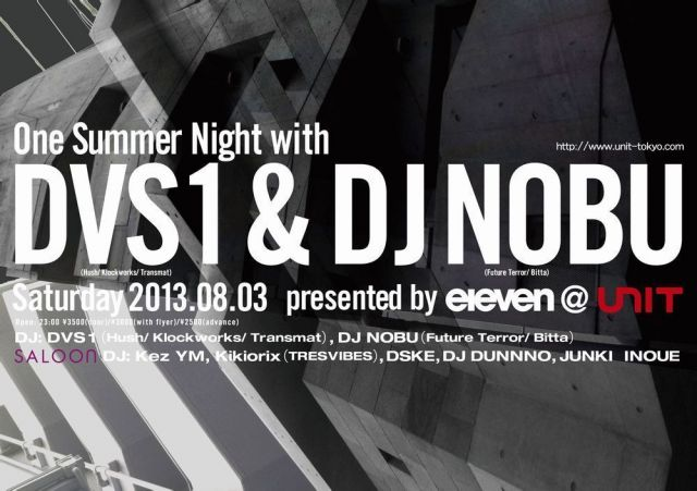 One Summer Night with DVS1 & DJ NOBU presented by eleven