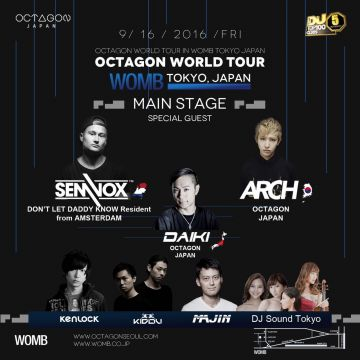 OCTAGON WORLD TOUR IN WOMB TOKYO JAPAN