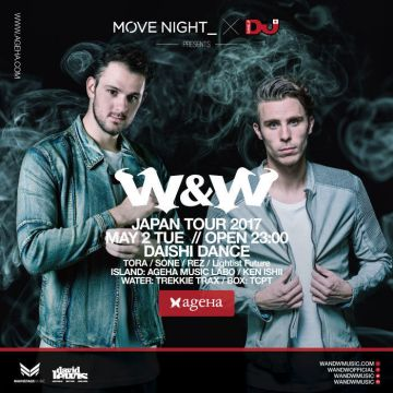 MOVE NIGHT_ × DJ MAG JAPAN Presents  W&W JAPAN TOUR 2017 in TOKYO