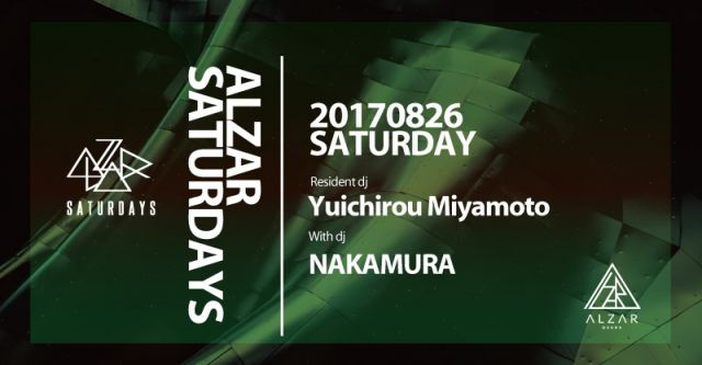 8.26(sat) ALZAR SATURDAYS